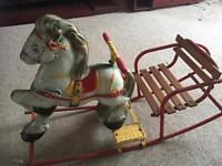 Vintage 1950's mobo rocking horse
