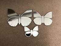 Butterfly mirrors wall art decorative