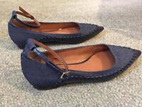 Next size 5 1/3 flat blue shoes.