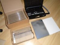 Binding machine, selection of wire combs, plastic covers and card backs