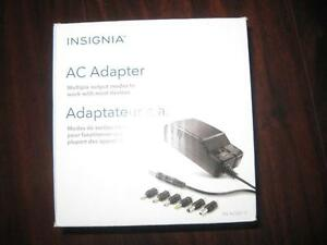 Insignia 7-Tip AC Adapter Set / Charger / Power Adaptor. Universal. Work with Hair Dryer. Shaver. Jadoo TV / Tablet. NEW