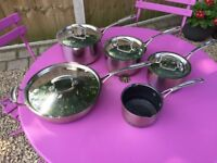 Copper Bottomed Stainless Pans