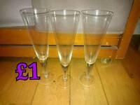 Set of 3 lovely glasses