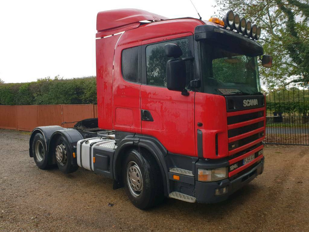 Scania 124 6x2 tractor unit 470 bhp manual gearbox head unit