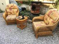 Wicker Table & chair £145