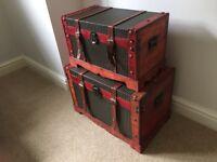 Set of 2 storage trunks