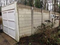 Concrete sectional garage with UPVC doors