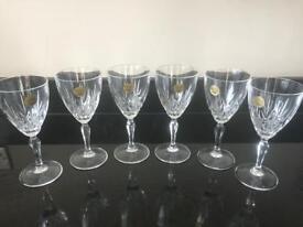 Crystal glasses x6