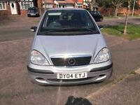 2004 MERCEDES BENZ A CLASS A140L CLASSIC. NEW CAMBELT. 1400CC LONG MOT CHEAP TAX.