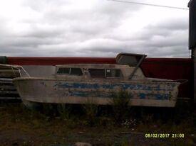 Boat for restoration (NORMAN 23FT) River boat/cabin cruiser