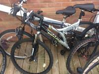 5 mountain bikes spares or repairs