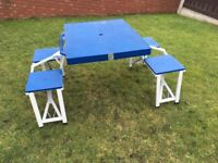 Camping / Picnic table. 4 seat. Fold Up. Good Clean Condition