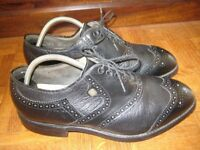 Footjoy black leather golf shoes