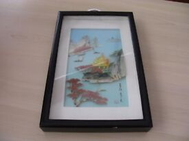 Vintage Chinese Mother of Pearl/ shell picture