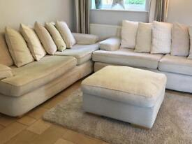 2x sofas and pouffe