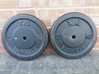 2 x 25KG YORK WEIGHT PLATES