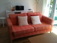 Ikea Karlstad 3 seater sofa with 2 sets of covers. 20 months old. Immaculate condition