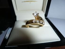 Bespoke diamond ring - handmade 18 ct yellow gold ring - PRICE REDUCED! NOW £750 ONO, VALUED £2500!