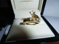 Bespoke diamond ring - handmade 18 ct yellow gold ring - PRICE REDUCED! NOW £800 ONO, VALUED £2500!