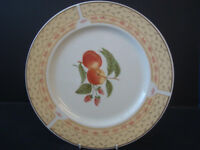 Johnson Brothers Fruit Sampler china, 32 pieces: oval platters, plates, teapot, cups, saucers, bowls