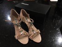 Dune heeled sandals