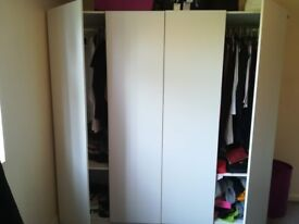 Ikea PAX Double Wardrobe with swinging doors