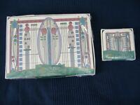 Rennie Mackintosh design place mats and coasters