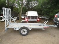 PHOENIX 750KG UNBRAKED LARGE MOTORCYCLE TRANSPORTER TRAILER WITH RAMPTAIL.....