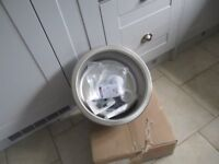 "Stainless steel circular sink approx 15"" dia, c/w with all fixtures & fittings & brand new mixer tap"