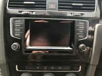 Vw golf mk7 infotainment system dab headunit screen facia aux complete