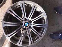 Bmw M3 19'' Genuine Alloy Wheel REAR 9.5j SINGLE WHEEL CAN POST (1 wheel)