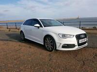 2015 AUDI A3 2.0 DIESEL S LINE IN WHITE 5 DOOR AUTOMATIC DSG, IN IMMACULATE CONDITION