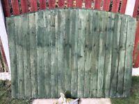 3x 6x5 solid shiplat fence panels
