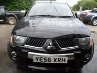 2006 56 MITSUBISHI L200 WARRIOR BLACK , 3 MONTHS WARRANTY 180K , FREE UK DELIVERY , SERVICED