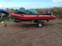 Quicksilver 430HD Inflatable Hull Boat