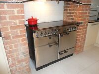 UNDER OFFER SOLD SUBJECT TO COLLECTION.Range Cooker 110cm. Electric. Stainless steel finish. £250.00