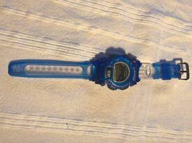 10x qty S-SUPER Shock Resistant Wristwatch Plastic Blue New Shock Resistant