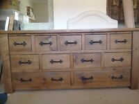 Large feature piece chest of draws -wooden/bespoke