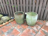 Large brass jam pot/ 2 large dolly tubs