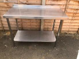 Bbq kitchen catering stainless steel table