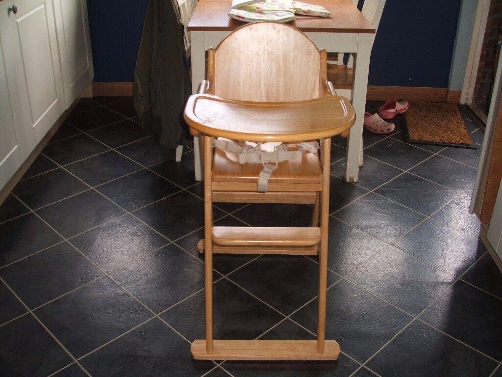 East Coast folding Wooden Highchair (from John Lewis)