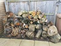 Semi seasoned fire wood logs