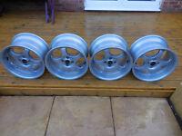 BORBET T Alloy Wheels , 4x100 , 9x16 , 2x ET15 & 2x ET30, Deep Dish