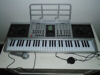 61 KEYS STEREO, 100 TONES, ETC KEYBOARD (BOXED), LCD DISPLAY + CARRY BAG, INSTRUCTIONS