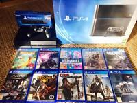 PS 4, play station camera and 10 games
