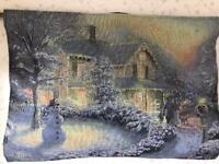 Christmas Fibre Optic Wall Tapestry