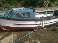17ft boat with Cabin+15hp engine