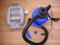 Halogen Heater 800W for caravan/camper/motorhome + Wet & Dry Vacuum Cleaner 12V 150W car's plug