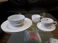 Plates, bowl and cups with small plate