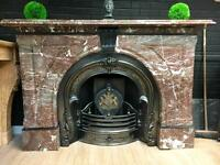 Antique Victorian Arch Marble fireplace Surround